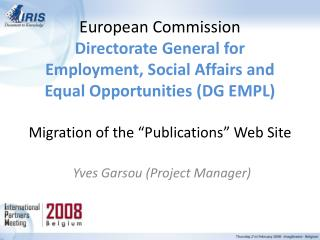 Yves Garsou (Project Manager)