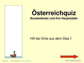 sterreichquiz Bundesl nder und ihre Hauptst dte