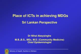 Sri Lankan Perspective Dr Nihal Abeysinghe