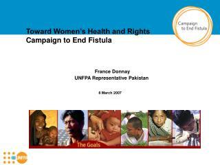 France Donnay UNFPA Representative Pakistan