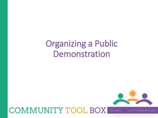 Organizing a Public Demonstration