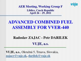 AER Meeting, Working Group F