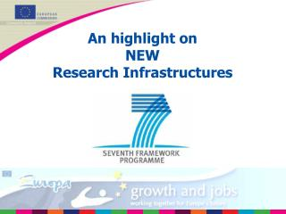 An highlight on  NEW  Research Infrastructures