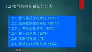 1.2  微型机控制系统的分类