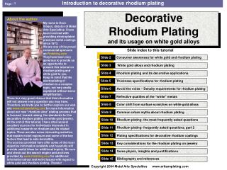 tutorial about rhodium plating
