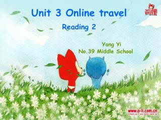 Unit 3 Online travel