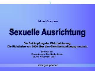 Die Bekämpfung der Diskriminierung: Die Richtlinien von 2000 über den Gleichbehandlungsgrundsatz
