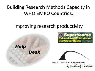 Building Research Methods Capacity in WHO EMRO Countries: Improving research productivity