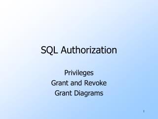 SQL Authorization