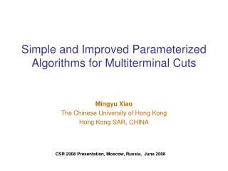 Simple and Improved Parameterized Algorithms for Multiterminal Cuts
