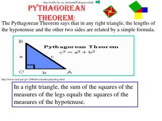 Pythagorean Theorem :