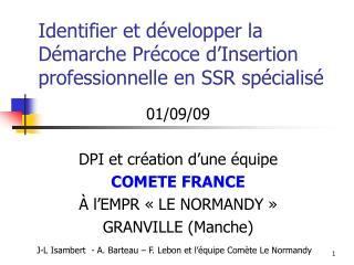 Identifier et développer la Démarche Précoce d'Insertion professionnelle en SSR spécialisé