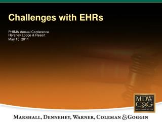 Challenges with EHRs