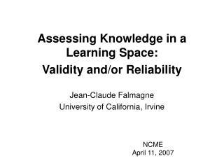 NCME  April 11, 2007