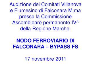 Comitati e Nodo FS di Falconara
