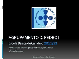 Agrupamento D. Pedro I Escola Básica de Canidelo 2011/12