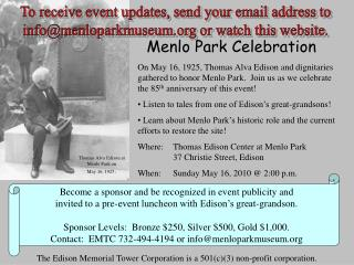 Menlo Park Celebration