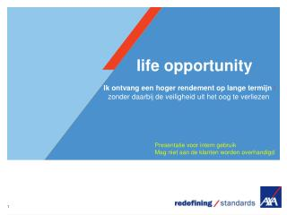 life opportunity