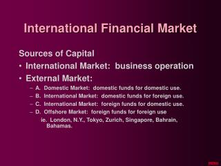 International Financial Market
