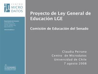 Proyecto de Ley General de Educación LGE Comisión de Educación del Senado