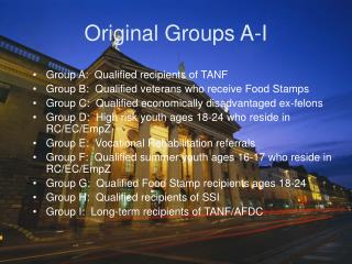 Original Groups A-I