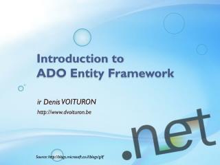 Introduction to ADO Entity Framework