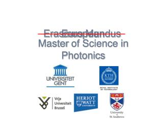 Master  of Science in Photonics
