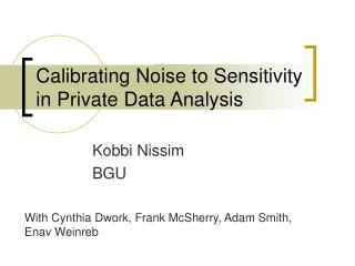 Calibrating Noise to Sensitivity in Private Data Analysis
