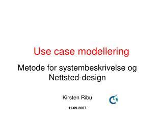 Use case modellering