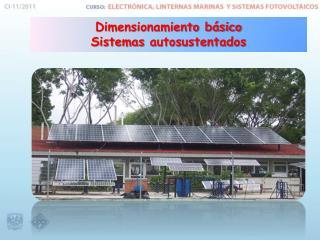 Dimensionamiento básico Sistemas  autosustentados