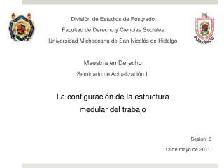 División de Estudios de Posgrado   Facultad de Derecho y Ciencias Sociales