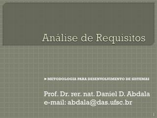 An�lise de Requisitos