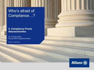 Who's afraid of Compliance…?