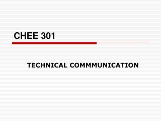 CHEE 301