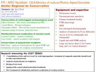 FR / ARC-Nucl�art   CEA/Ministry of culture/Rh�ne-Alpes/Grenoble Atelier Regional de Conservation
