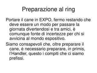 Preparazione al ring