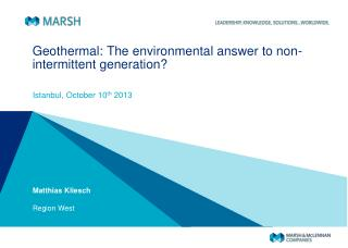 Geothermal: The environmental answer to non-intermittent generation?