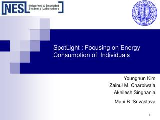 SpotLight : Focusing on Energy Consumption of  Individuals