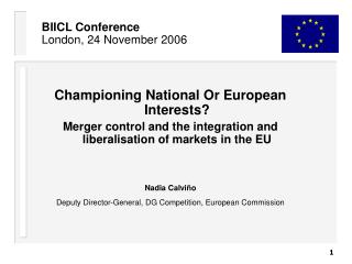 BIICL Conference London, 24 November 2006