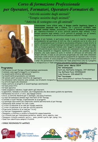 Corso di formazione Professionale  per Operatori, Formatori, Operatori-Formatori  di: