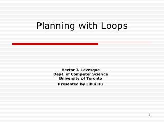 Planning with Loops