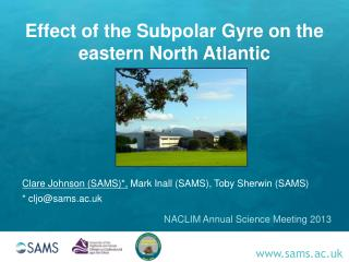 Effect of the Subpolar Gyre on the eastern North Atlantic