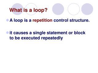What is a loop?