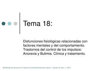Tema 18: