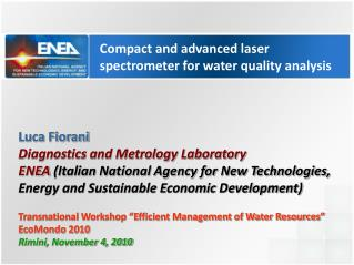 Compact and advanced laser spectrometer for water quality analysis