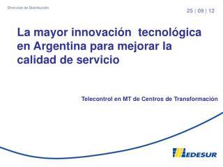 Telecontrol en MT de Centros de Transformación