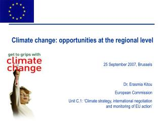 Climate change: opportunities at the regional level