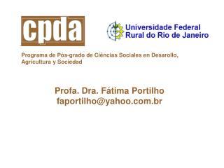 Programa de Pós-grado de Ciências Sociales en Desarollo, Agricultura y Sociedad