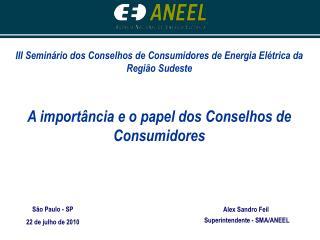 III Seminário dos Conselhos de Consumidores de Energia Elétrica da Região Sudeste