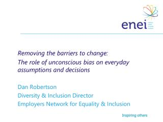 Removing the barriers to change: